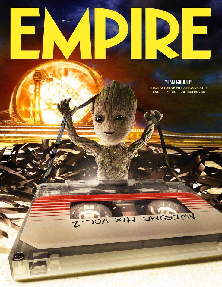"""A revista Empire divulgou uma capa de sua nova edição impressa com o personagem Groot bebê ganhando destaque.Groot já era bastante popular entre os fãs no primeiro filme, mas seu """"renascimento"""" em versão miniatuara no segundo Guardiões da Galáxia tem tudo para roubar as cenas!Fonte da imagem: ..."""
