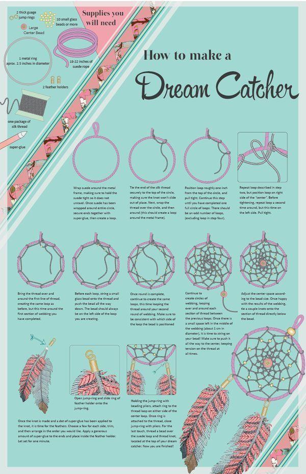 diy dream catcher all about crafts diy pinterest attrape attrape r ve et tutos couture. Black Bedroom Furniture Sets. Home Design Ideas