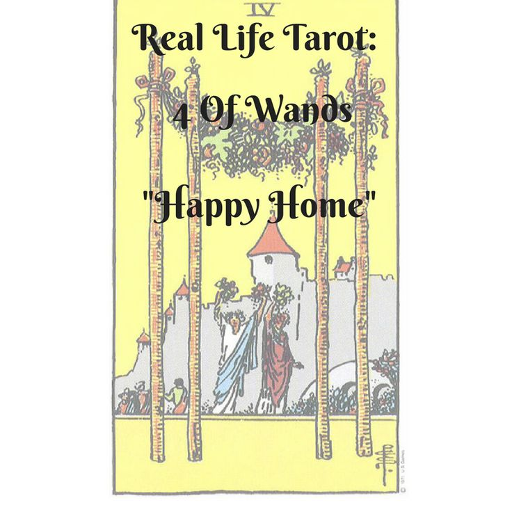"Real life tarot, where I learn tarot with  living  daily life with tarot. Element: Fire Meaning: Celebration, home coming, stability, home, family , festivals The 4 of wands, warms the heart.  I am always happy to see it.  It's family celebrations and joyful occassions. The number ""4"" represents stabiity , so everything is going as … Continue reading ""Real Life Tarot: 4 of Wands  ""Happy Home"""""