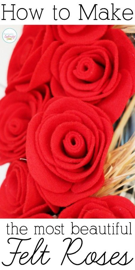How to Make Perfect Felt Roses - You'll never believe how easy these are to make! No sewing required!