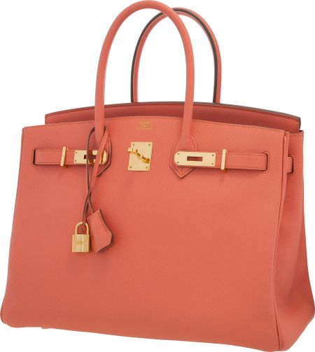 Hermes 35cm Rose Jaipur Epsom Leather Birkin Bag with Gold Hardware