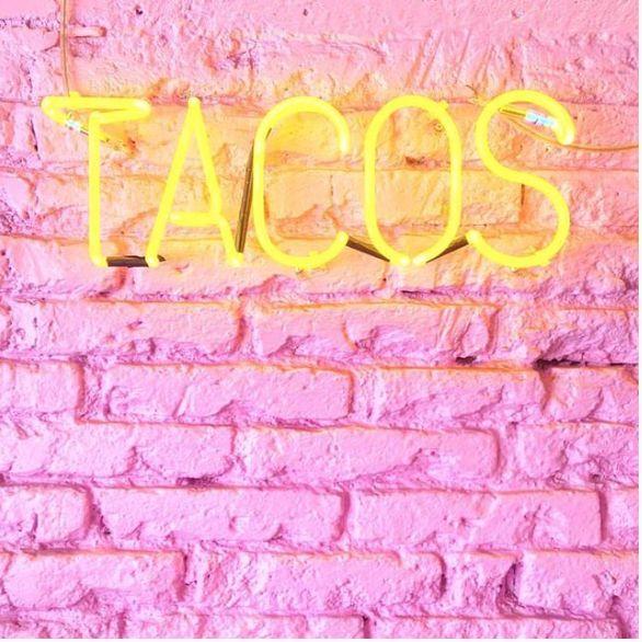 #tacos #neon #pink