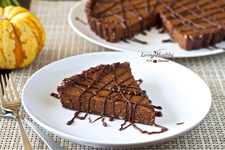 No Bake Triple-Chocolate Pumpkin Pie (paleo, gluten, grain, dairy, egg ...