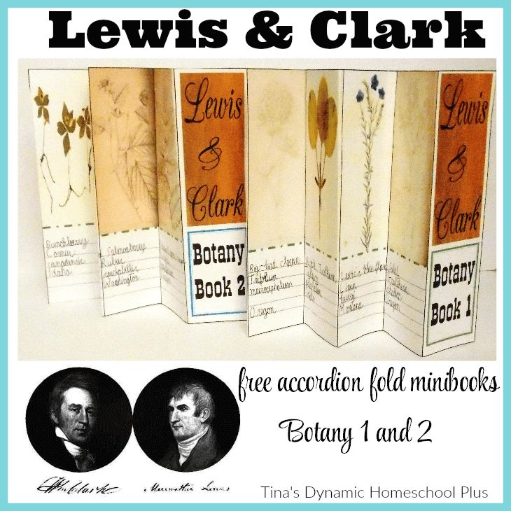 Lewis and Clark free Botany 1 and Botany 2 minibooks @ Tina's Dynamic Homeschool Plus