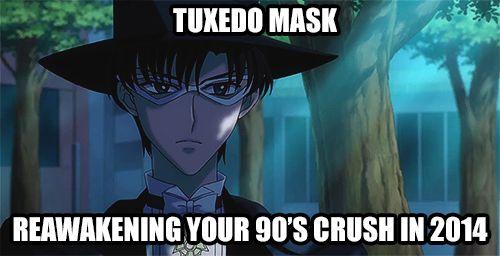 Tuxedo Mask : reawakening you 90s crush in 2014 #SailorMoonCrystal #SailorMoon