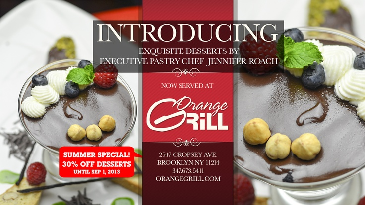 Truly gourmet. Truly exclusive. Only at Orange Grill!