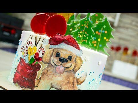 (4) Новогодний торт с медовыми леденцами- Я - ТОРТодел! - YouTube