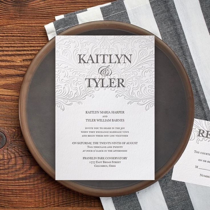 elegant wedding invites coupon codes%0A There u    s no doubt this beautiful letterpress invitation will leave an  everlasting impression on guests  An amazing design allows your names to  take center