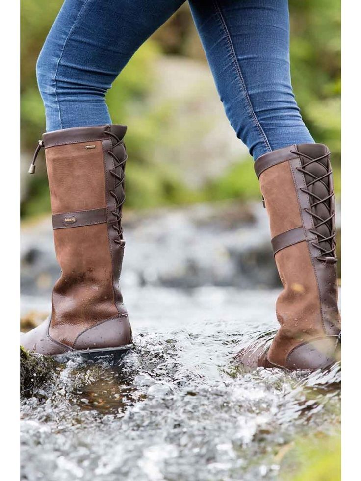 Glanmire Country Boot Walnut | Knee high leather boots