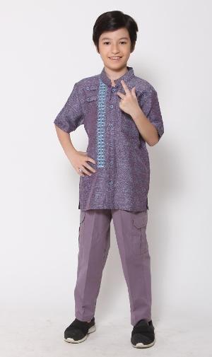 Baju Muslim Anak Koko Majma Kids 15 Biru - Size 1 - BIG SALE
