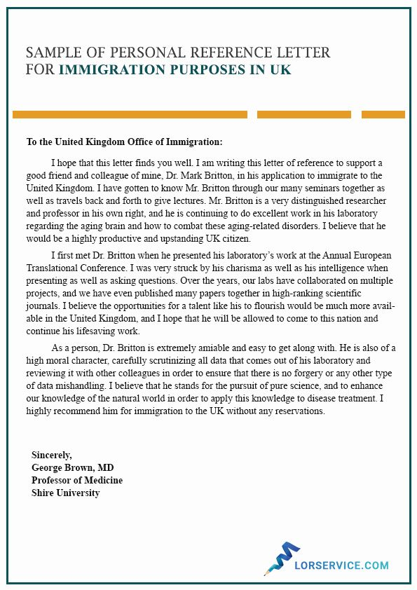 Reference Letter For Immigration Lovely Writing A Character