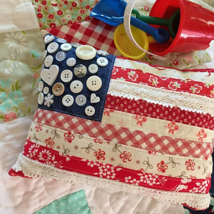 adorable flag pillow