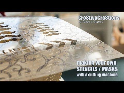 DIY create your own Stencils & Masks #Silhouette