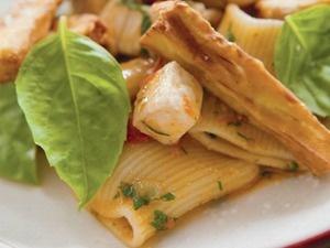 Marc Vetri's Rigatoni with Swordfish, Tomato, and Eggplant Fries   Serious Eats