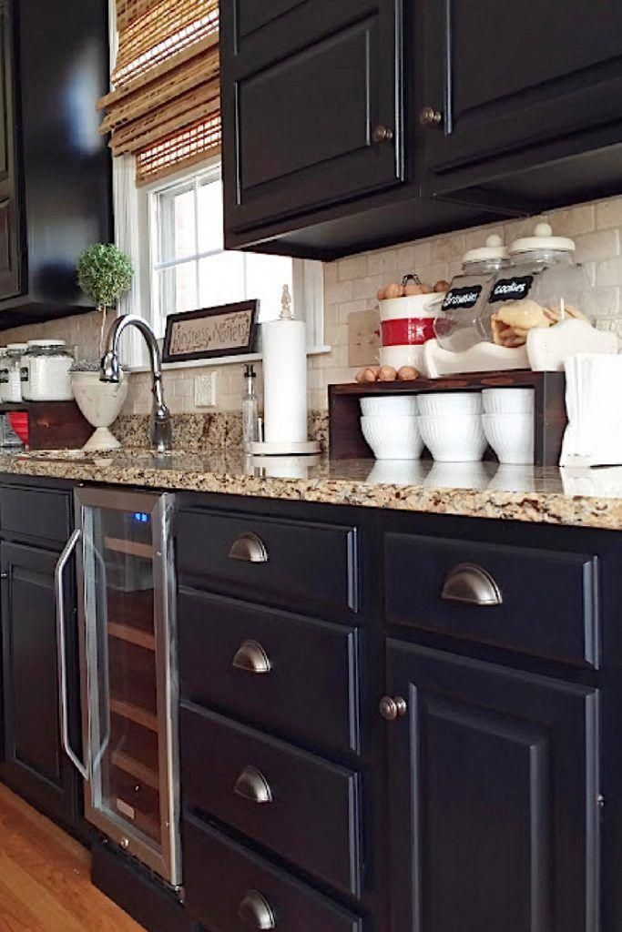 Painted Kitchen Cabinets With General Finishes Lamp Black Milk Paint And D Lawless Hard New Kitchen Cabinets Kitchen Cabinets Makeover Kitchen Cabinet Remodel