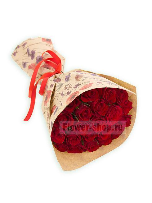 Букет из 21 красной розы Акуна Матата