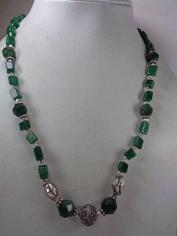 Природные Chrosoparse ожерелье 152 карат. вышитый от GemsMart