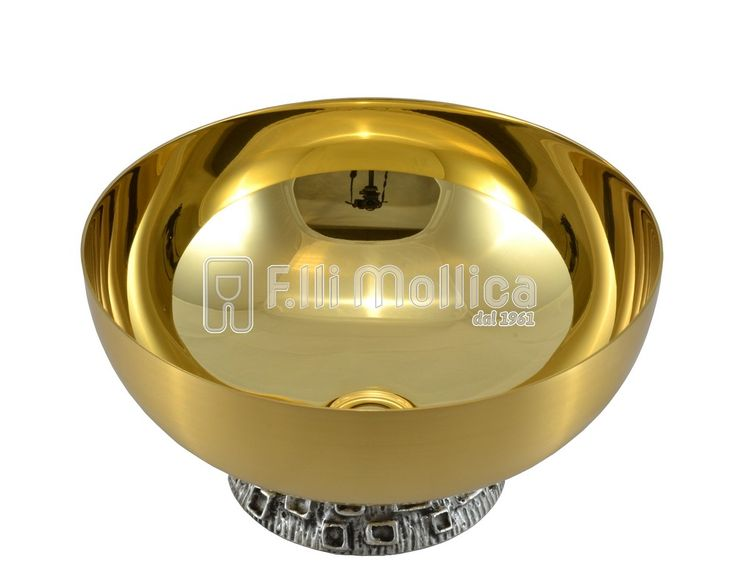 Bowl Paten with with foot cast bronze