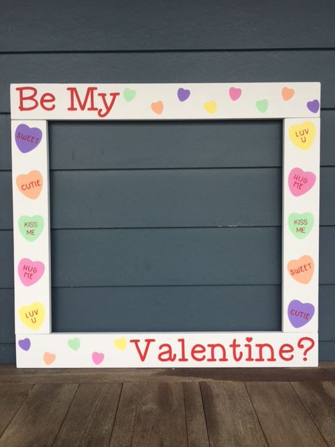 Valentine Photobooth - Valentine Photo Frame Prop - Valentine's Day - Valentine Photo Frame Wood