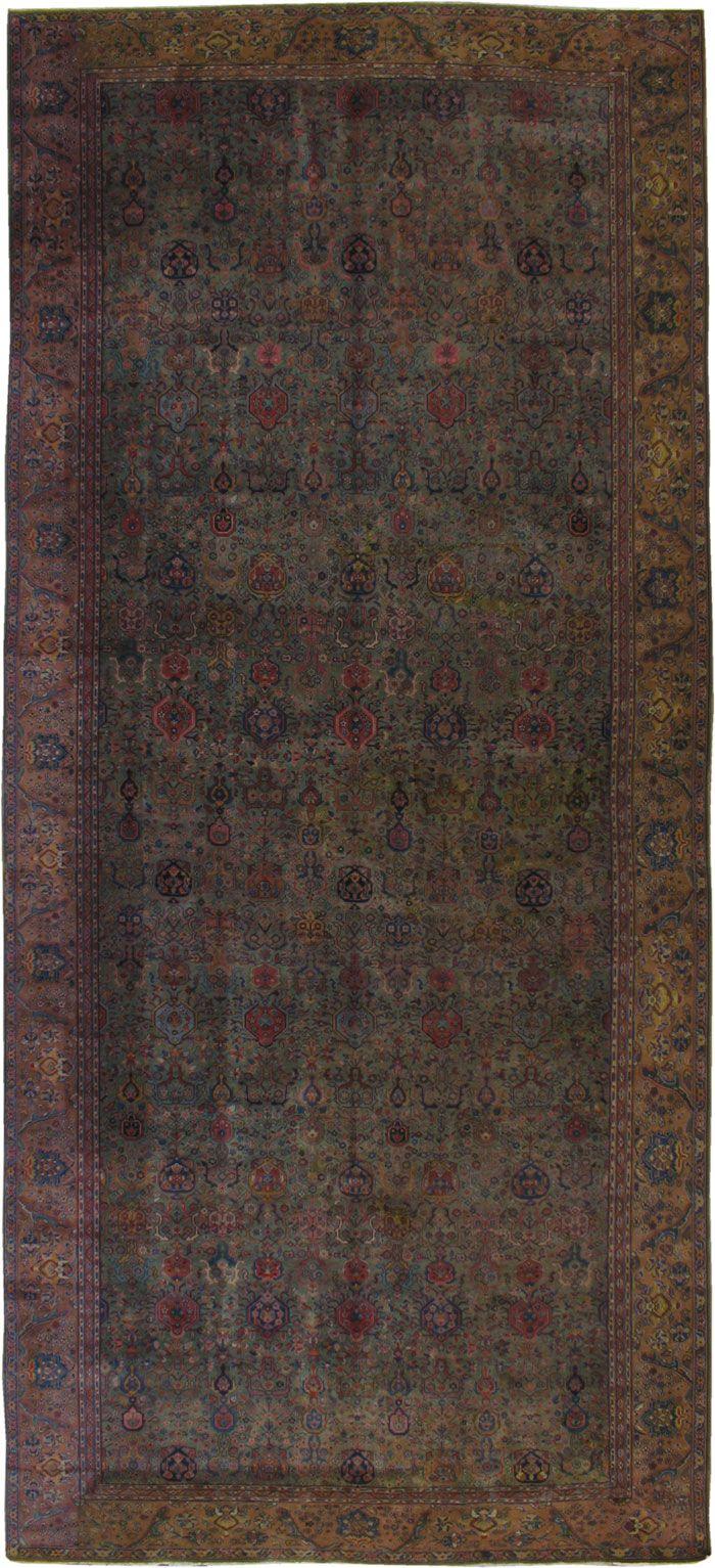 Item Title:Antique Agra Carpet,Item Number:16650,Item Size:(2.47 x 5.54m)
