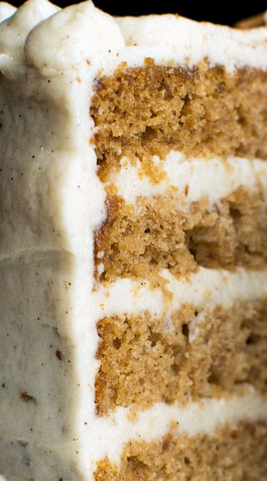 Apple Layer Cake with Vanilla Chai-Spiced  Buttercream