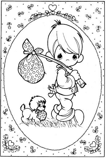 tramp – Precious Moments coloring pages