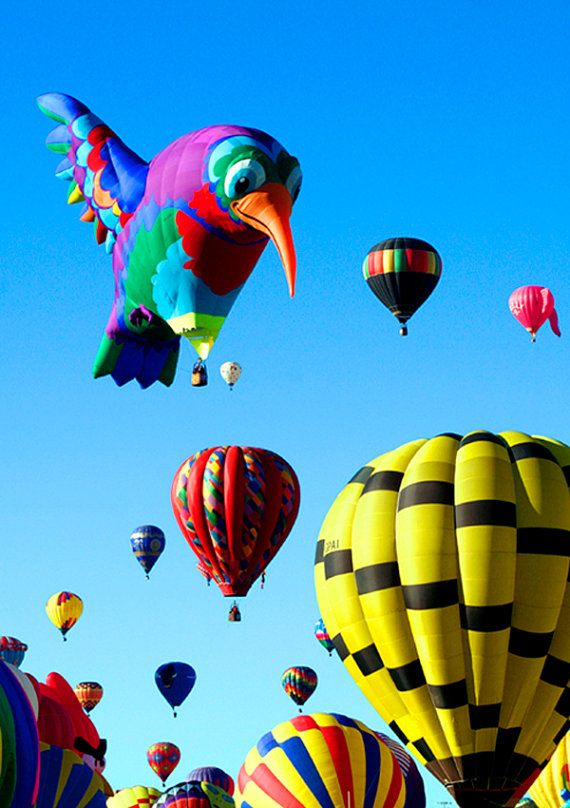 Hot Air Balloon Fiesta Albuquerque New Mexico  Playful by PuaArts, $15.00
