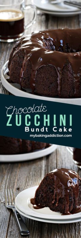 Chocolate Zucchini Bundt Cake is so easy to make. It's rich, delicious and no one will know it contains a vegetable!