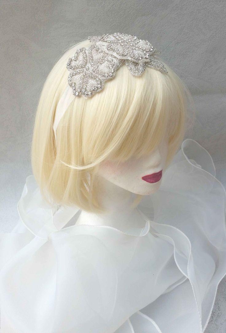 Magnifique headband bandeau de Accessoire de Mariage ou de cocktail : Accessoires coiffure par ysabell