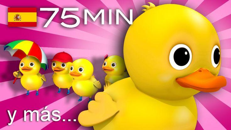 Cinco patitos | Y muchas más canciones infantiles | ¡75 min de LittleBab...