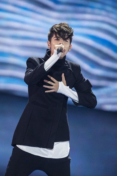 Kristian Kostov performs at the 62nd Eurovision Song Contest at International Exhibition Centre (IEC) in Kiev, Ukraine 2017