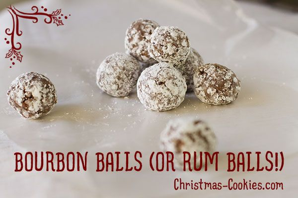 Bourbon balls, Bourbon and Rum balls on Pinterest