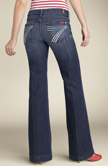 My favorite jeans! So comfortable....  7 for all mankind Dojo trouser jeans