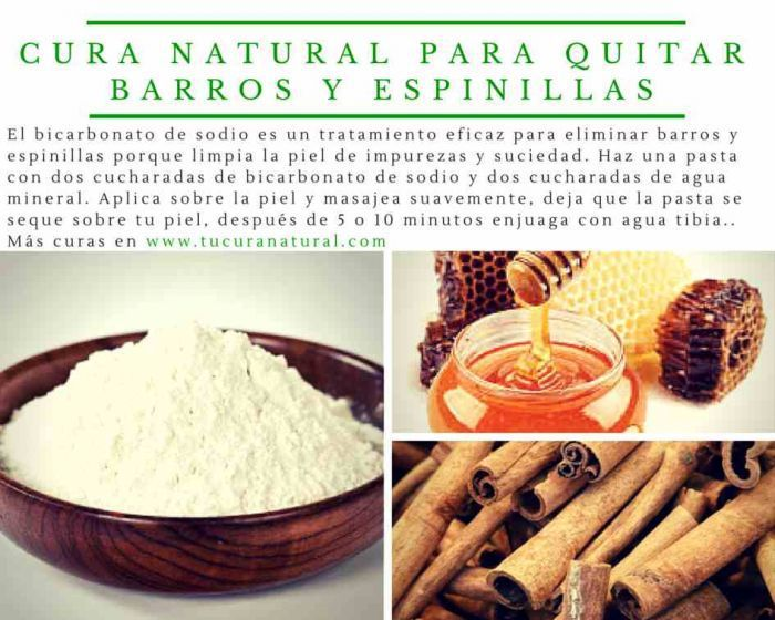 cura natural para quitar barros y espinillas