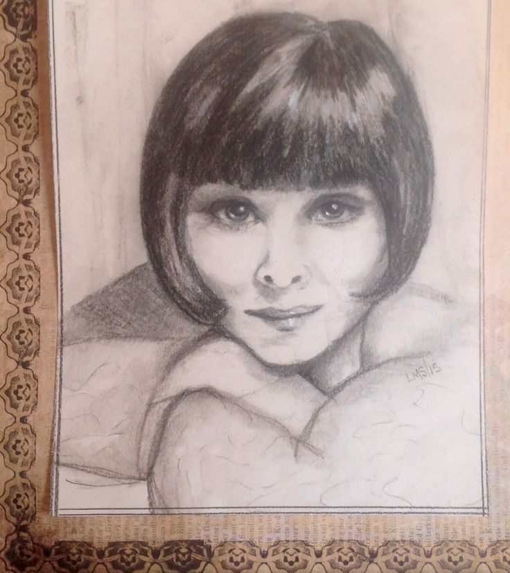 Phryne Fisher charcoal
