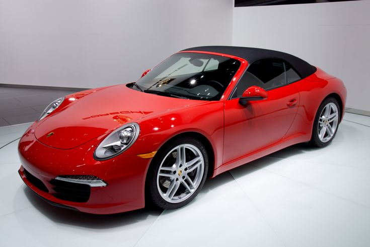 Description 2012 NAIAS Red Porsche 991 convertible (world premiere ... #lamborghini lamborghini