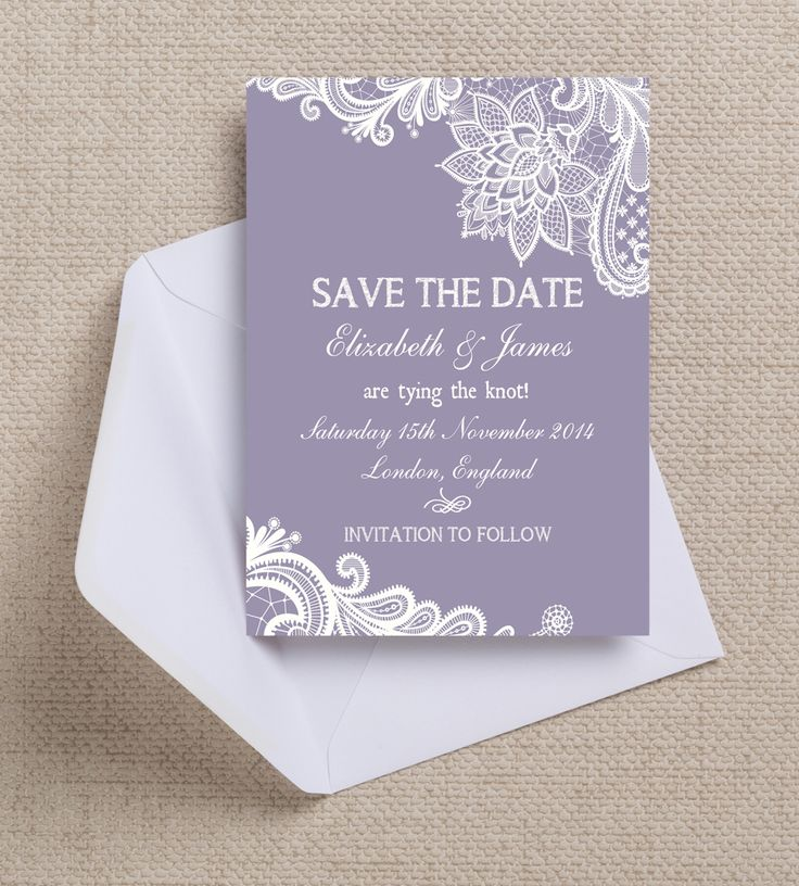 Gorgeous lace design Save the Date