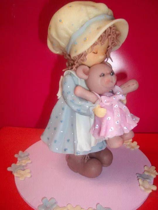 adorno para torta en porcelana fría sarah kay