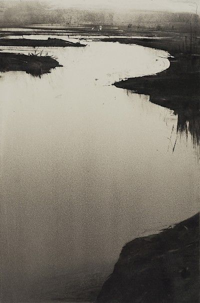 Monotype - Wendy Orville : Nisqually Dusk at Davidson Galleries