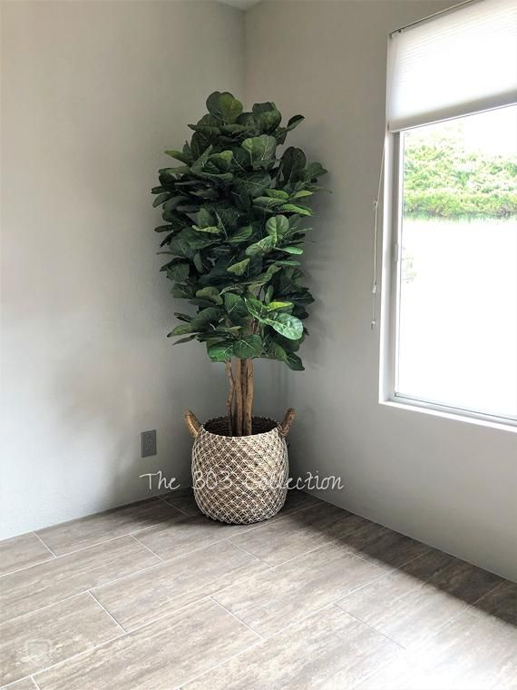 6 Fiddle Leaf Fig Tree Fake Trees Decor Large Artificial Trees For Indoors Large Faux Trees La Fake Trees Fiddle Leaf Fig Tree Faux Tree