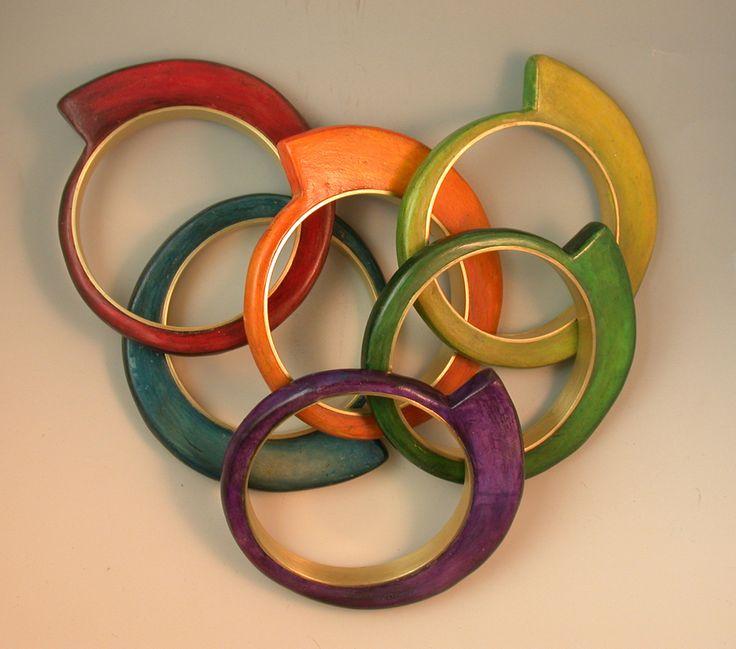 Orobouros Bracelets by Louise Fischer Cozzi of Brooklyn, NY. 2015 NICHE Awards Finalist. Category: Polymer Clay #polymerclay, #bracelets