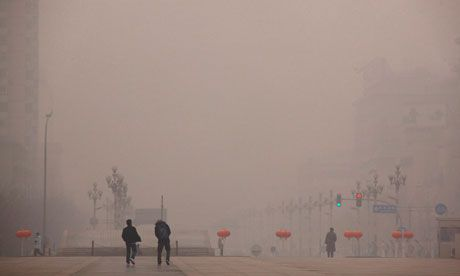 Beijing, China. Air pollution is expected to overtake lack of clean water as a global killer.