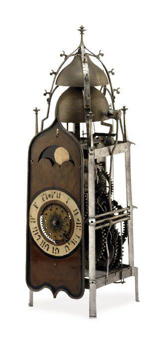 Gothic Domestic Iron Clock, Mid 16th Century (britishmuseum.org)                       via t-s-k-b