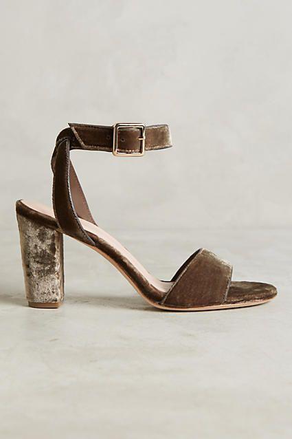 Charlotte Stone Samia Velvet Heels - anthropologie.com