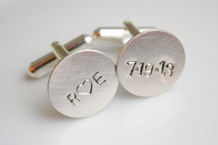 Personalized+Cuff+Links+Cufflinks+Custom+Date+by+CelebrateToday,+$30.00