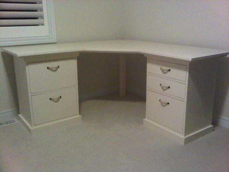 Desk With Short Drawer Sidetables And A Homemade Desktop