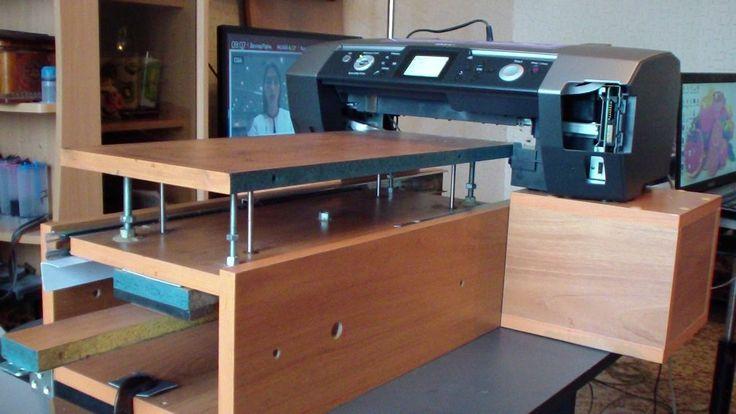 Фото принтер Эпосн Epson R 340  переделанный под пярмую печать на твёрды...