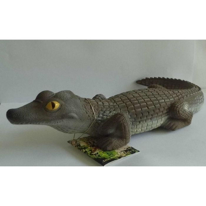 garden or pond ornament crocodile alligator resin plastic bnip listing in the other. Black Bedroom Furniture Sets. Home Design Ideas