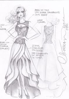 dibujos de diseños de vestidos de noche - Buscar con Google