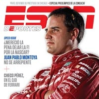 Earnhardt Ganassi Racing with Felix Sabates driver Juan Pablo Montoya graces the cover of the ESPN Deportes La Revista (the Spanish version of ESPN the Magazine) this month. This is the second time the international driver has been featured in the prestigious magazine; he first appeared on the February 2007 issue just before his first full season in NASCAR. ESPN Deportes La Revista is the most culturally relevant sports magazine for the U.S. Hispanic reader.